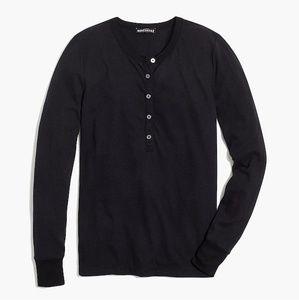 JCrew Factory long sleeve slub henley